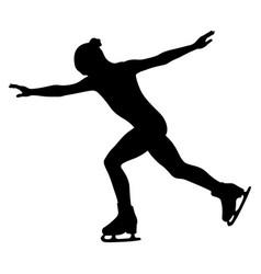 figure skating woman skater vector image