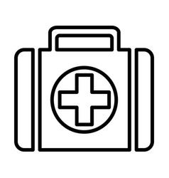 First-aid kit line icon 96x96 pictograph vector