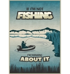 Fishing Blue Poster vector image