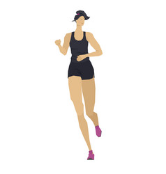 Fitness for women running isolated object people vector