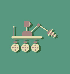 Flat icon design collection space robot in vector