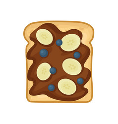 flat icon of sweet sandwich with chocolate vector image