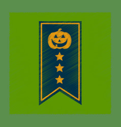 Flat shading style icon halloween garland vector