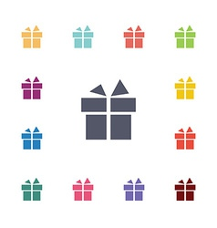 gift flat icons set vector image