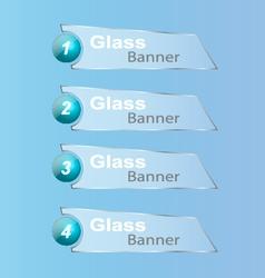 GlassBanner vector