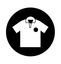 golf team shirt icon vector image