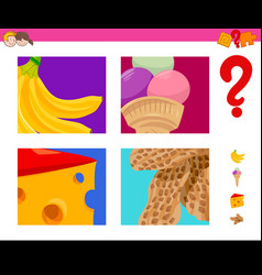 guess food objects activity game vector image
