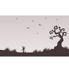 Halloween backgrounds hand zombie vector