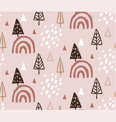 hand drawn christmas and new year doodles vector image