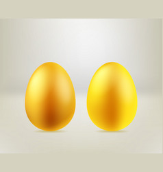 happy easter greeting card template golden eggs vector image