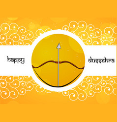 Hindu festival dussehra background vector