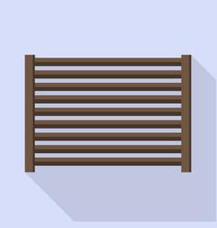 horizontal wood fence icon flat style vector image
