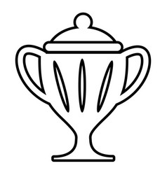 ice hockey cup icon outline style vector image