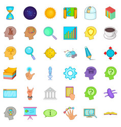 Idea icons set cartoon style vector