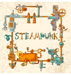 Industrial Machines Frame vector image