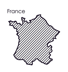 Isolated france map design vector