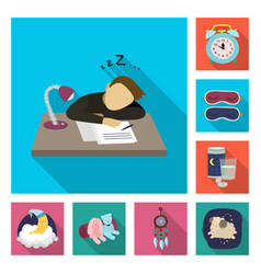 isolated object dreams and night sign set of vector image
