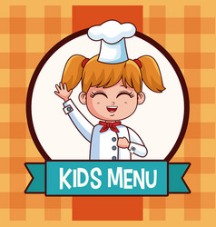 Kids menu cartoon vector