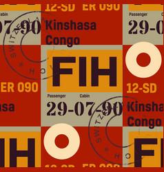 kinshasa airport seamless pattern vector image