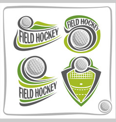 Logo field hockey ball vector