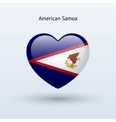Love American Samoa symbol Heart flag icon vector