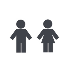 Male and female toilet silhouette vector image