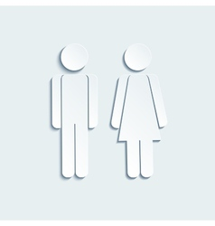 man and woman icons for toilet or restroom sign vector image
