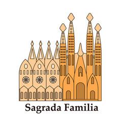 may 15 2014 a of la sagrada familia - the vector image