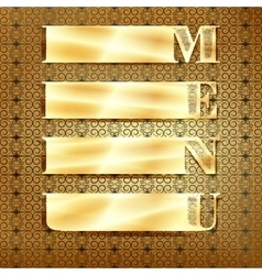 menu golden ornament 3 vector image