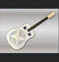 Metal resonator guitar vector
