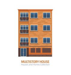 modern multistory house vector image
