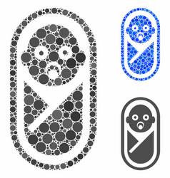 Newborn composition icon circles vector