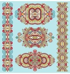 Ornamental decorative ethnic floral adornment for vector