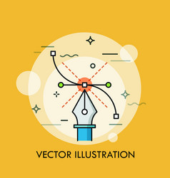 Pen tool and bezier curve concept of modern vector