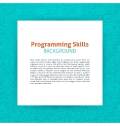 Programming Paper Template vector