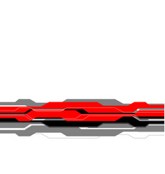 red grey line futuristic on white blank space vector image
