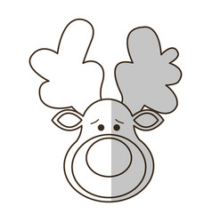 Rudolph deer icon vector