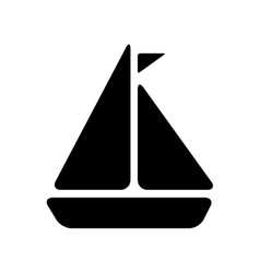 Sailboat ship vehicle vector