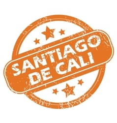 Santiago de cali round stamp vector