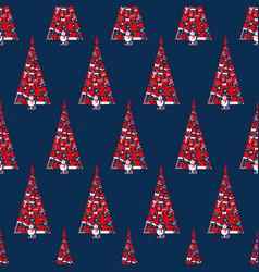 Seamless christmas tree vector
