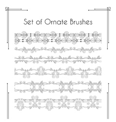 Set of ornate brushes vector image