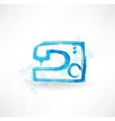 Sewing-machine grunge icon vector
