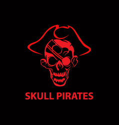 skull pirates vector image