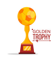 soccer golden trophy world cup event vector image