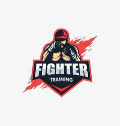 sport fighter template vector image