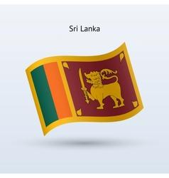 Sri Lanka flag waving form vector image