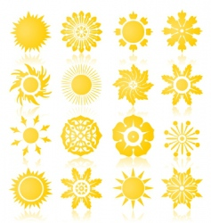 sun icons2 vector image