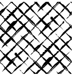 Trendy handdrawn checkered seamless pattern vector