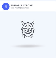 viking icon filled flat sign solid vector image