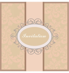 Vintage floral ornament invitation or card vector